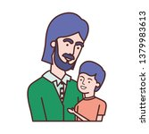 father with son avatar character | Shutterstock .eps vector #1379983613