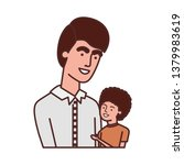 father with son avatar character | Shutterstock .eps vector #1379983619