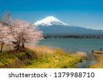 mount fuji in the morning  the... | Shutterstock . vector #1379988710