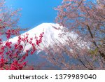the beauty of mt. fuji in the... | Shutterstock . vector #1379989040