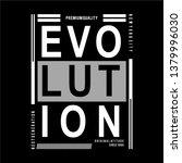 evolution typography tee print... | Shutterstock .eps vector #1379996030