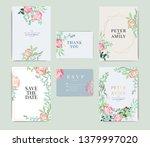 wedding invitation  floral... | Shutterstock .eps vector #1379997020