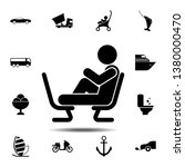 feet on the chair  man icon....