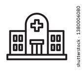 hospital icon in trendy outline ...