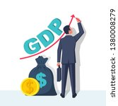 growth gdp. government budget ... | Shutterstock .eps vector #1380008279