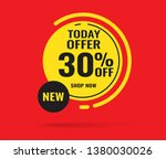 sale this weekend special offer ... | Shutterstock .eps vector #1380030026