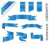 set of blue ribbon banner icon... | Shutterstock .eps vector #1380040970