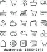 thin line vector icon set  ... | Shutterstock .eps vector #1380043646