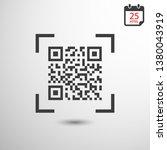 vector qr code icon  | Shutterstock .eps vector #1380043919
