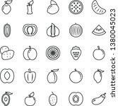thin line vector icon set  ...   Shutterstock .eps vector #1380045023