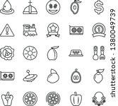 thin line vector icon set  ... | Shutterstock .eps vector #1380049739