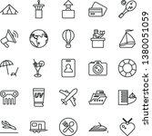 thin line vector icon set  ... | Shutterstock .eps vector #1380051059