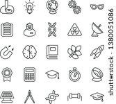 thin line vector icon set  ... | Shutterstock .eps vector #1380051086