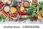 healthy vegan food.  vegetarian ...   Shutterstock . vector #1380063086