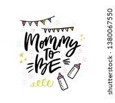 mommy to be handwritten... | Shutterstock .eps vector #1380067550