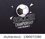 soccer championship banner or... | Shutterstock .eps vector #1380072380