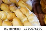fresh buns from the oven.... | Shutterstock . vector #1380076970