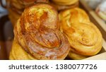 buns from the oven. conveyor... | Shutterstock . vector #1380077726