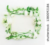 floral frame made of white... | Shutterstock . vector #1380092186