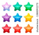 colorful star glossy buttons...