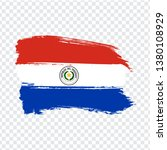 flag of paraguay from brush...