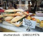 sandwich on a counter show... | Shutterstock . vector #1380119576