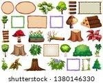 set of ornamental plants... | Shutterstock .eps vector #1380146330