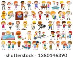 set of cartoon character... | Shutterstock .eps vector #1380146390