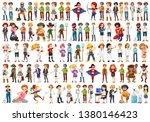 set of people with different... | Shutterstock .eps vector #1380146423