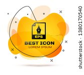 black eps file document icon.... | Shutterstock .eps vector #1380170540