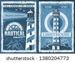 Nautical Lighthouse Vintage...