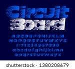 circuit board alphabet font.... | Shutterstock .eps vector #1380208679