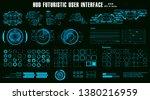 hud futuristic blue virtual...