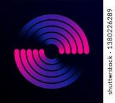 circular spiral sound wave... | Shutterstock .eps vector #1380226289