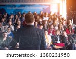 rear view of young successful... | Shutterstock . vector #1380231950