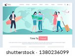 time to travel vector  relaxed... | Shutterstock .eps vector #1380236099