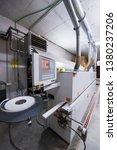 cnc wood cutting machine in big ... | Shutterstock . vector #1380237206