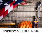 labor day  usa america flag... | Shutterstock . vector #1380242336