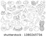 vector hand drawing fruits and... | Shutterstock .eps vector #1380265736