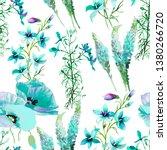 wild flowers and grass... | Shutterstock . vector #1380266720