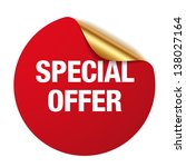 red special offer sticker | Shutterstock .eps vector #138027164
