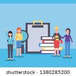 people office workplace | Shutterstock .eps vector #1380285200