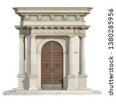Old Portal In Neoclassical...
