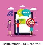 people social media   Shutterstock .eps vector #1380286790