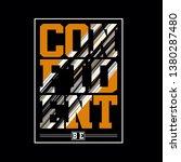 graphic design confident tee... | Shutterstock .eps vector #1380287480
