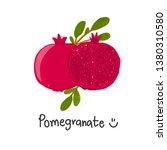 pomegranate doodle vector... | Shutterstock .eps vector #1380310580