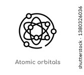 outline atomic orbitals vector... | Shutterstock .eps vector #1380326036