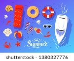 vector summertime top view... | Shutterstock .eps vector #1380327776