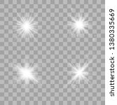 vector set of glare lighting ... | Shutterstock .eps vector #1380335669