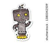 distressed sticker of a cartoon ... | Shutterstock . vector #1380342509